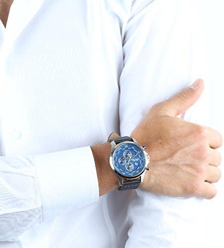 SECTOR Herren Chronograph Quarz Smart Watch Armbanduhr mit Leder Armband R3251180023