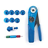 JRready Four indent Crimp Tool Kit,YJQ-W1A Crimper+Seven Positioners+G125 Go-NoGo Gage for wire/cable contact/pin/socket/terminal Crimping in Connector