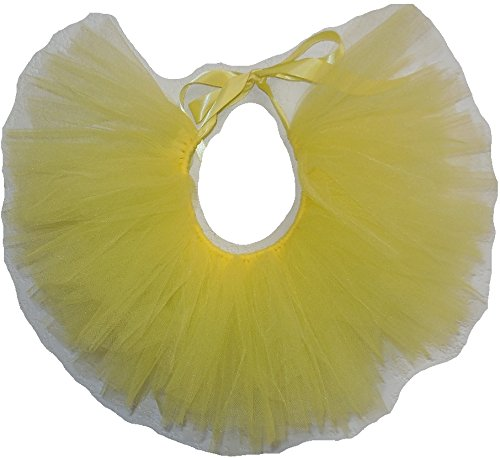 Pawpatu Handcrafted in USA Yellow Tulle Tutu for Medium Dogs