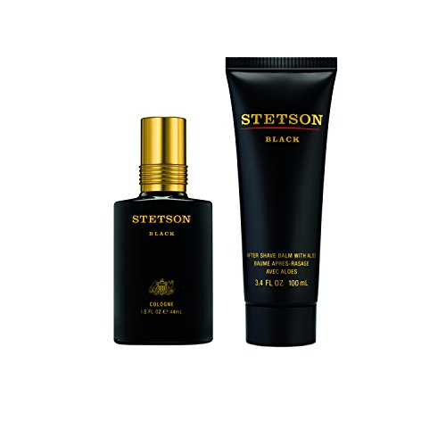 Black After Shave Balm (Stetson Black 2pc Set - 1.5oz Cologne Spray + 3.4oz Aftershave Balm with Aloe)