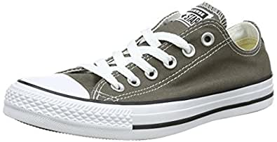 Converse Chuck Taylor All Star Canvas Low Top Sneaker (6 B(M) US Women/4 D(M) US Men, Charcoal)