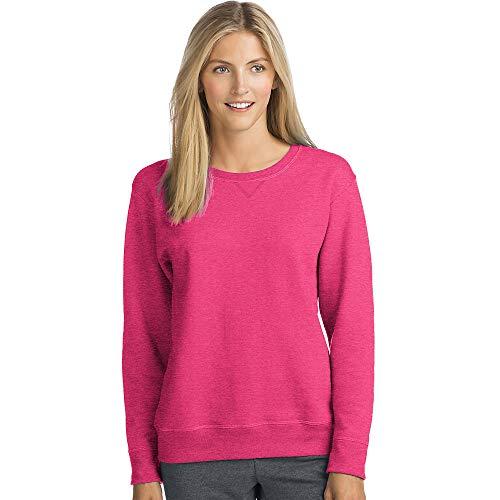 Hanes Womens ComfortSoft EcoSmart Crewneck Sweatshirt (O4633) -Jazzberry -L