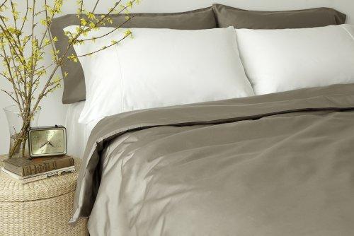 glo Organic Sateen (Taupe Grey)-King Duvet Set
