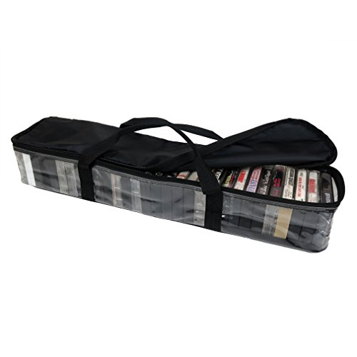 Evelots Cassette Tape Storage Carry Case, Stores Up To 30 Cassettes