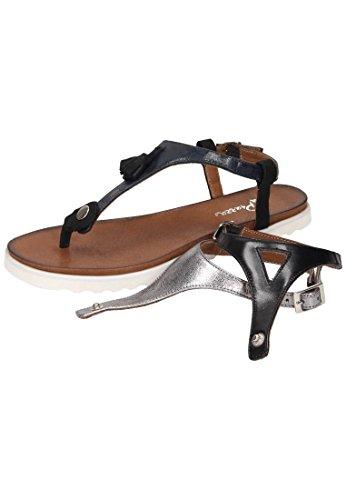 schwarz silber Mehrfarbig navy Damen Sandalette 910770 Piazza 0 Zwei wYp0Hx