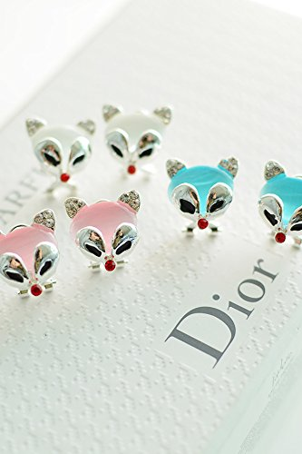 Generic The new fashion personality earrings women girls lady Korean temperament simple cute little fox animal ear jewelry earrings Fang Guoping by Generic (Image #4)