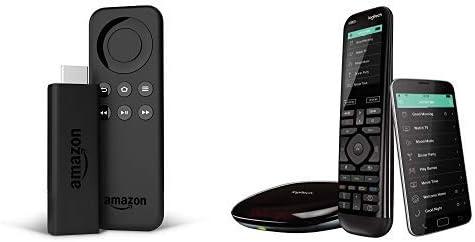 Logitech Harmony Elite - Mando a distancia avanzado para control de TV y multimedia, hub y aplicación, negro + Fire TV Stick Basic Edition: Amazon.es: Electrónica