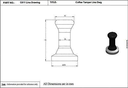 Krome Dispense C011 Espresso Coffee Tamper 58mm