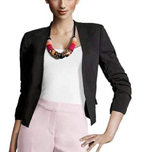 Women Puff Sleeve Blazer Jacket Long Sleeve Suit Outwear Black ()
