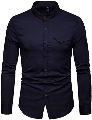 JOLIME Camicia Uomo Slim Fit Coreana Manica Lunga Eleganti Casual Affari Lavoro con Taschino