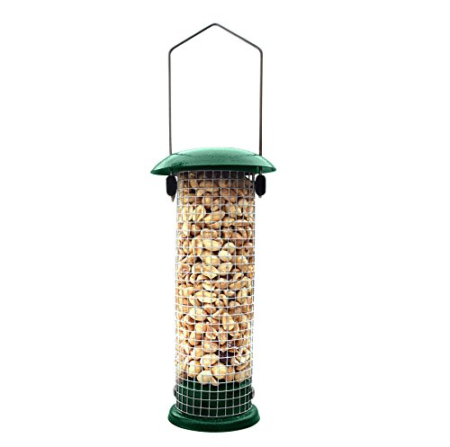 GrayBunny GB-6856 Premium Steel Sunflower Seed and Peanut Feeder, 9.5