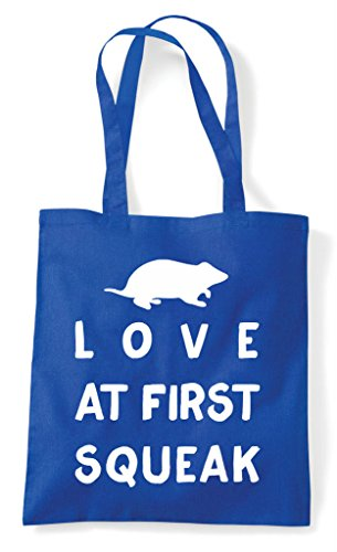 Squeak Tote Love Rodent Pets At Lover Animal Person Shopper Royal Funny Blue First Bag 4zxpzZ