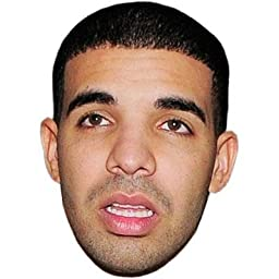 Drake Mask, Cardboard Face and Fancy Dress Mask by Celebrity Cutouts