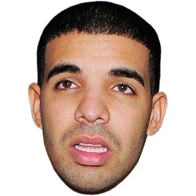 Drake Mask, Cardboard Face and Fancy Dress Mask by Celebrity Cutouts (Fancy Face Masks)