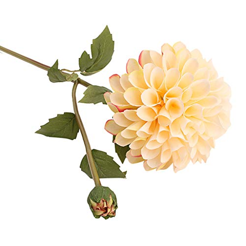 YJYdadaS Single Artificial Flower Dahlia Bridal Wedding Bouquet Home Furnishing Decor (D)