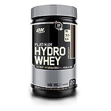 Optimum Nutrition Platinum Hydrowhey Protein Powder, 100% Hydrolyzed Whey Protein Powder, Flavor: Turbo Chocolate, 1.75 Pounds