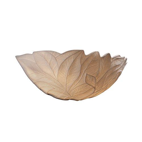 Limoges 1-Light Wall Sconce - Leaf Translucent Porcelain Shade ()
