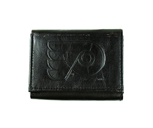 NHL Philadelphia Flyers Tri-Fold Leather Wallet, Black ()