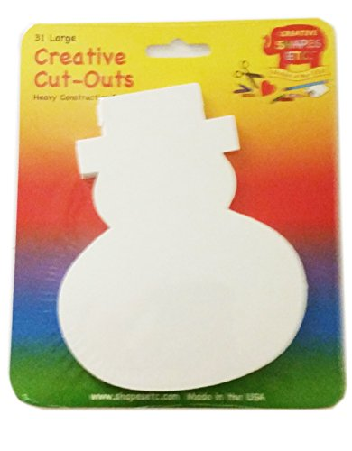 - Snowman Large Single Color Creative Cut-Out