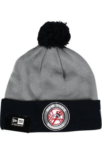 new york yankees circle knit new era cap beanie pompom -