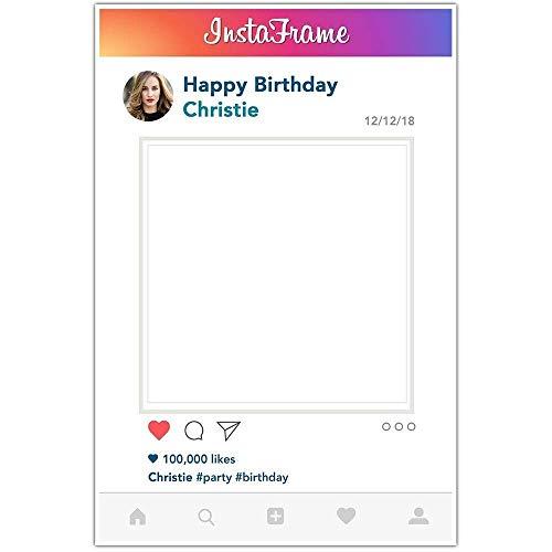Instaframe Social Media Selfie Frame Photo Booth Prop Poster (Photo Frame Cut Out)