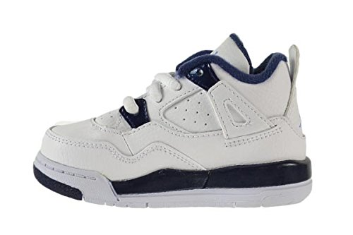 Jordan 4 Retro Columbia LS BT Baby Toddlers Shoes White//Legend Blue-Midnight Navy 707432-107