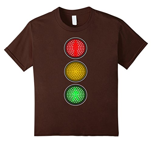 Group 6 Ideas Costume (Kids Traffic Signal Light Halloween Group Costume Idea T-Shirt 6)