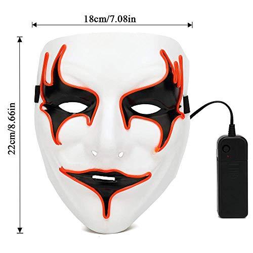 XILALU Led Mask, Party Halloween Neon Luminous Wire