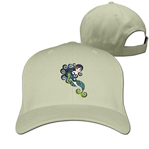 Aquamarine Mermaid Baseball Hats By Cnlowter