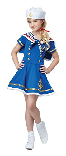 California Costumes Sunny Sailor Girl Costume, Blue/White, Medium]()