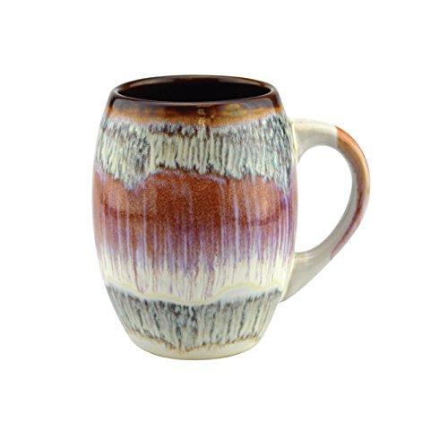 (Mug Creative Glazed Ceramic Coffee and Tea Cup with Handle - Gorgeous Artistic Unique Design Coffee Mugs 20 oz (Rose, 1))