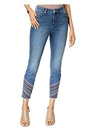 Style & Co Jeans Ajustados con Curvas Bordadas