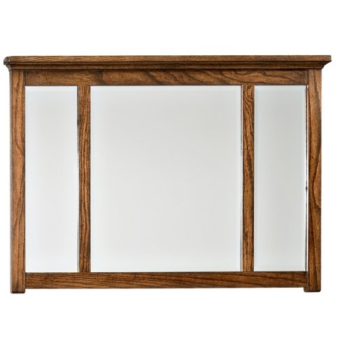 Landscape Beveled Dresser Mirror - Imagio Home OP-BR-5891-MIS-C Oakhurst Landscape Dresser Mirror in Mission Finish