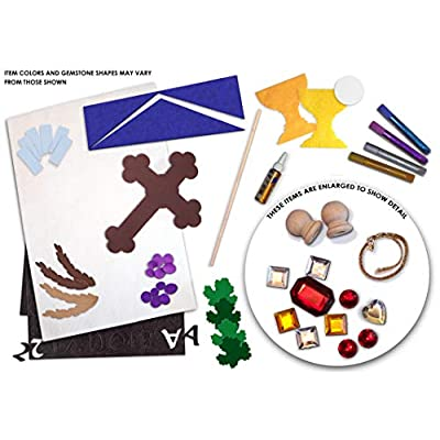 First Communion Banner Kit - 12 x 18 - Cross - Blue - Black Letters: Toys & Games