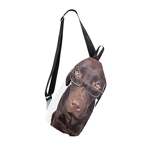 Canvas Messenger Bag Dog Wear Sunglasses Cross Body Shoulder Sling Backpack Travel Hiking Chest ()