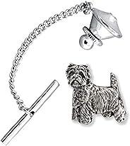 Westie Dog Pewter Tie Tack, Tie Pin, Jewelry, D478TT