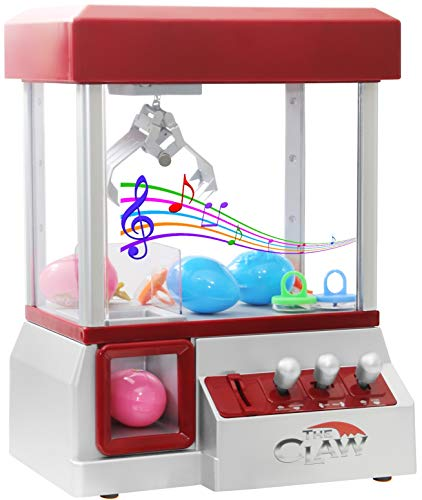 Bundaloo Claw Machine Arcade Game | Candy Grabber & Prize Dispenser Vending Machine Toy for Kids, with Music | Best Birthday & Christmas Gifts for Boys & Girls (Red -