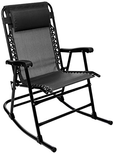 AmazonBasics Foldable Rocking Chair - Black