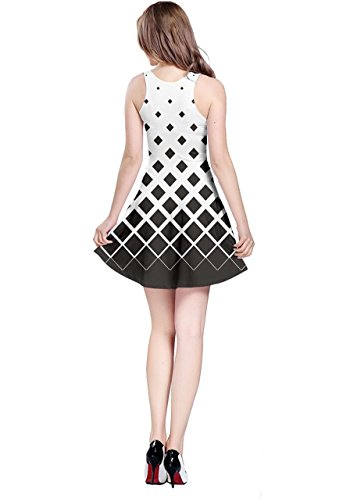 Rhombuses CowCow Gradient Sleeveless Womens Black Dress Reversible 6fOxPEwfq