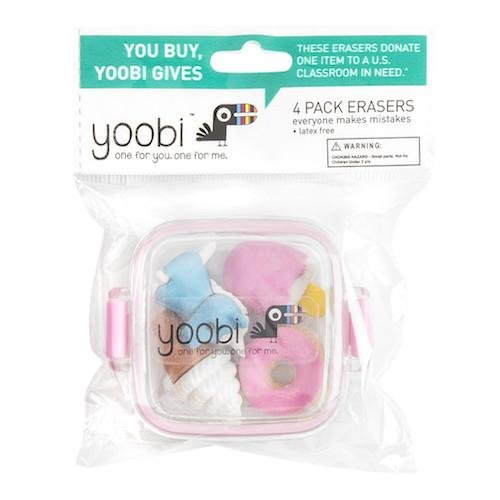 Yoobi 4 Pack Erasers by Yoobi (Image #3)