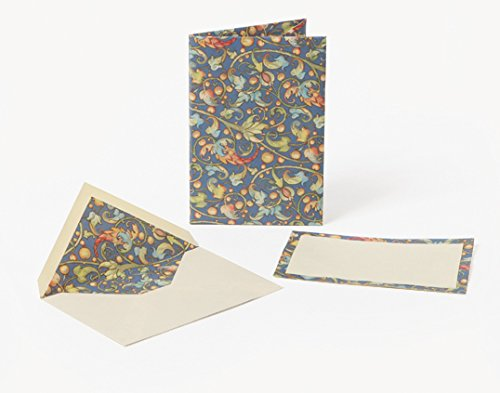Ramis (Vines) Small Cards and Envelopes Portfolio: Florentine Stationery, Italian Paper