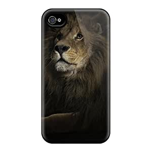 Premium KNhLaeD650MMBYg Case With Scratch-resistant/ Lion Case Cover For Iphone 4/4s