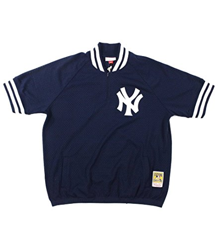 - Mitchell & Ness New York Yankees MLB Men's Authentic 1/4 Zip Batting Practice Jacket (3XL - 56)