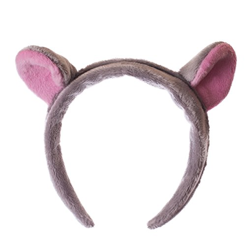 Wildlife Tree Plush Hippopotamus Ears Headband Accessory for Fiona the Hippo Costume, Cosplay, Pretend Animal Play or Safari Party -
