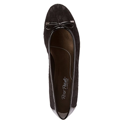 Petali Di Rosa Camminando Culle Womens Nissa Slip On Black Lace Mesh