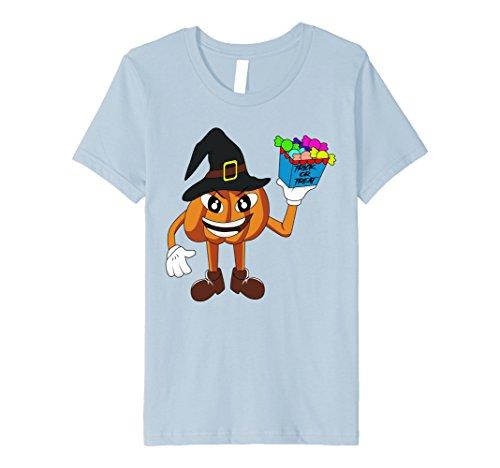 Kids Trick or Treat Pumpkin Halloween Kids Toddler T-Shirt 4 Baby Blue