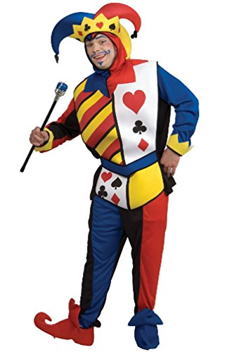 8eighteen Playing Card Joker Mardi Gras Adult Costume (Playing Card Joker Costume)