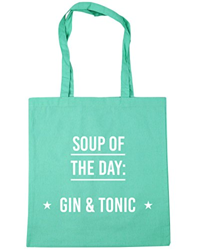 Beach Soup litres amp; Mint Day Of Gin Shopping Tonic 42cm 10 x38cm Tote HippoWarehouse The Gym Bag vBdvw