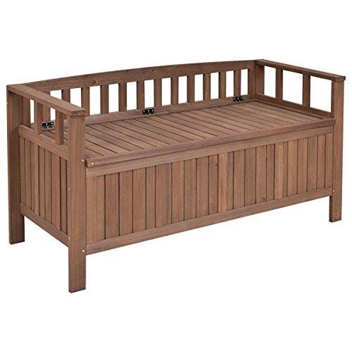 Wood Frame Swing Arbor (Garden Bench Patio Storage Deck Box 70 Gallon All Weather Outdoor Wood Dark Brown)