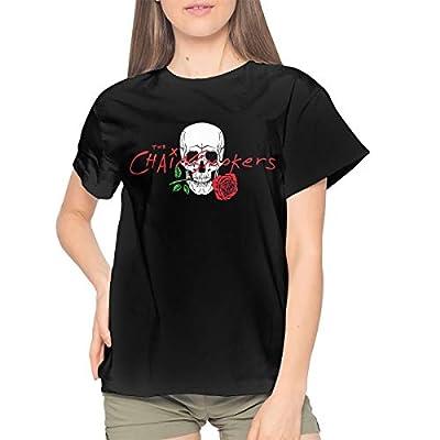 Dana J Lessard The Chainsmokers T Shirt Women's Cotton Fashion T Shirt Round Neck Top Short Sleeve Tee